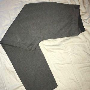 UNIQLO grey dress pants , cropped